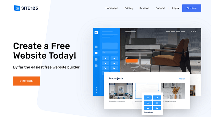 site123 resume website builder