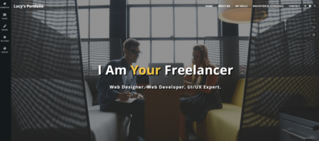 site123 online resume example