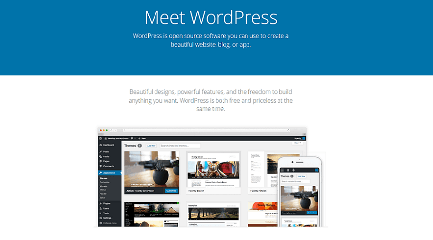 wordpress.org resume website builder