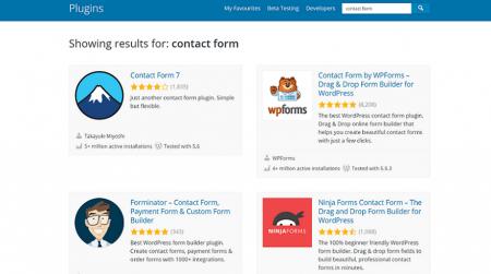 wordpress.org contact form plugins