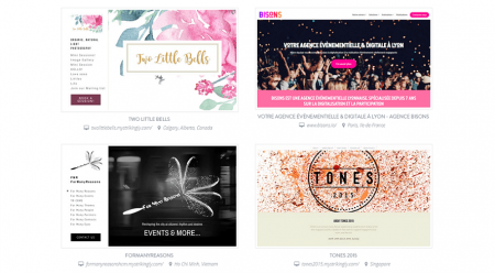 strikingly event templates