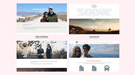 strikingly wedding website examples