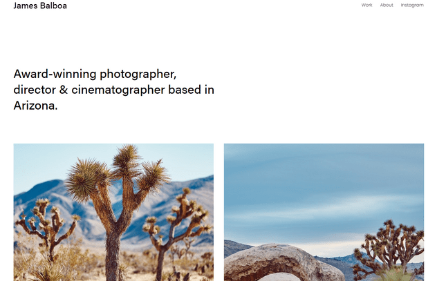 squarespace balboa photography template