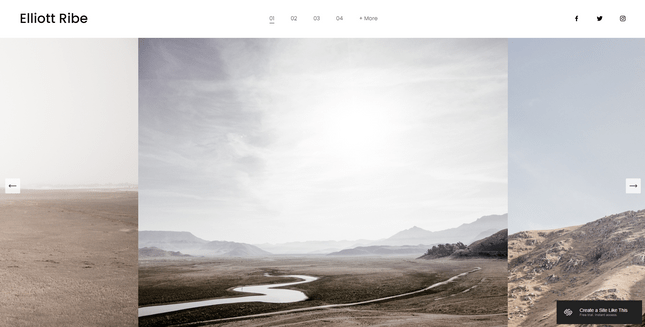 squarespace elliott photography template