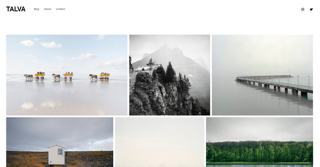 squarespace talva photography template