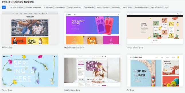 shopify vs wix online store templates