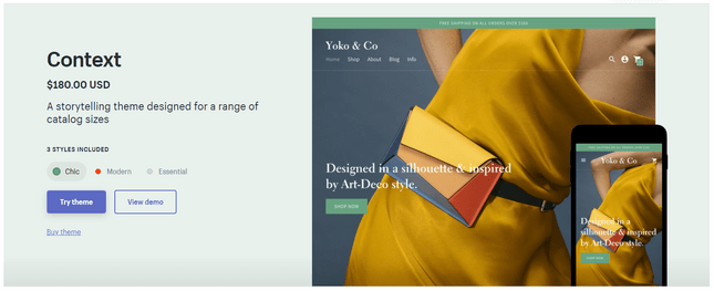 wix vs shopify theme style options