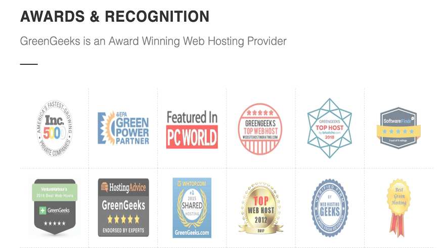 greengeeks recognition