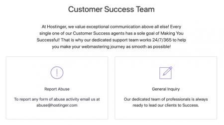 hostinger customer support