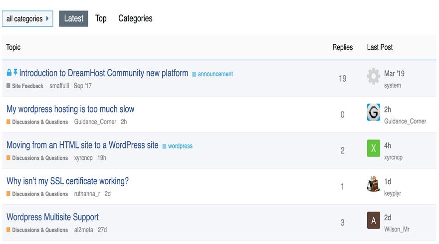 dreamhost community forum