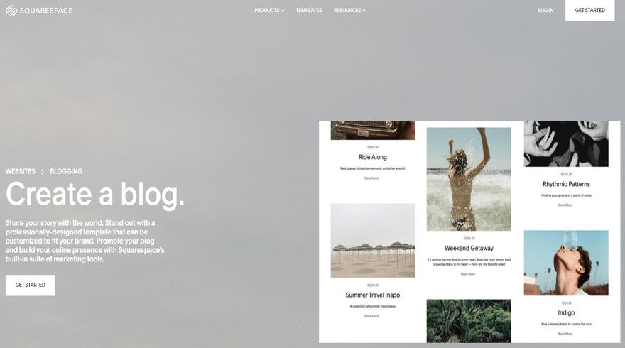 squarespace create a blog