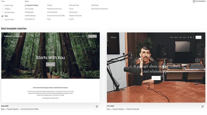 squarespace blogging templates