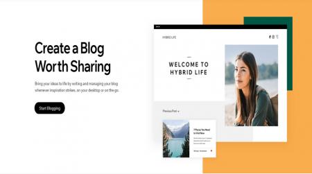wix create a blog