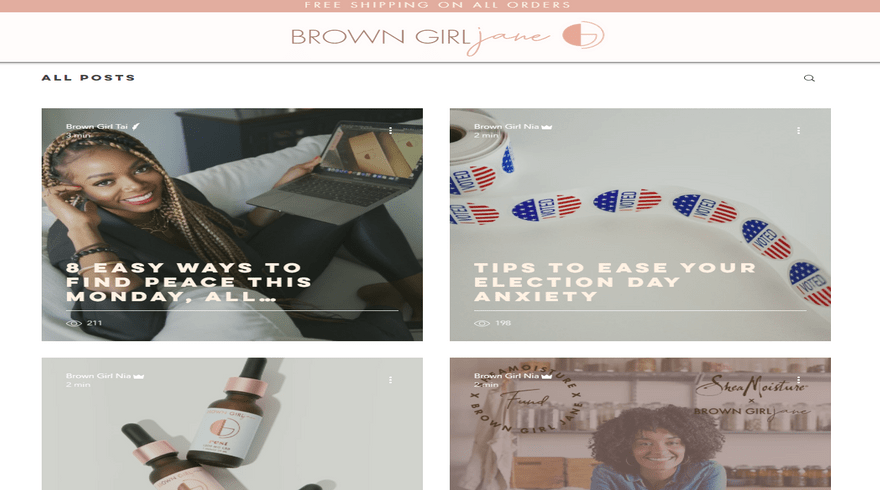 wix blog example brown girl jane