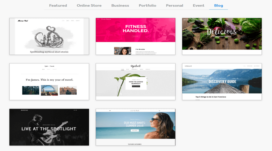 weebly blogging themes