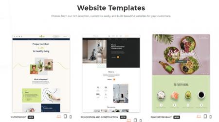 duda blogging templates