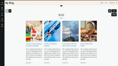 site123 blog editor