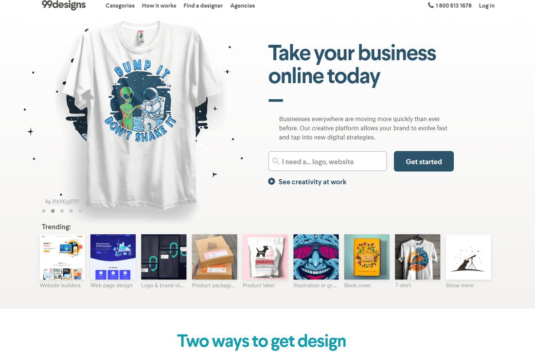 99designs visual hierarchy web trend