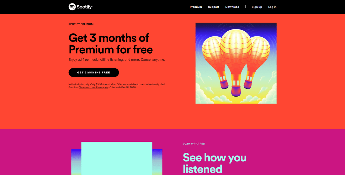 spotify visual hierarchy web trend