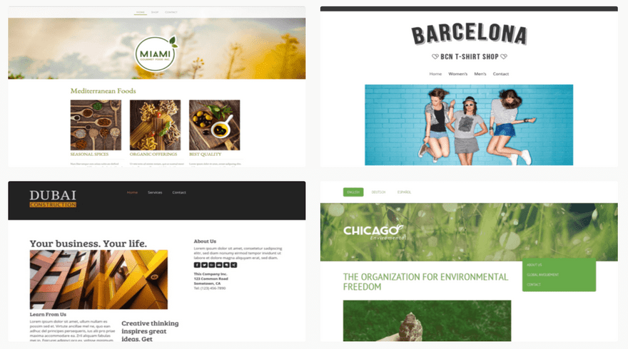 jimdo blogging templates