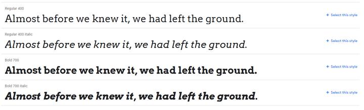 arvo best website fonts