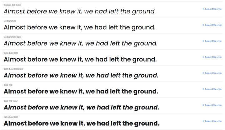 poppins best website fonts