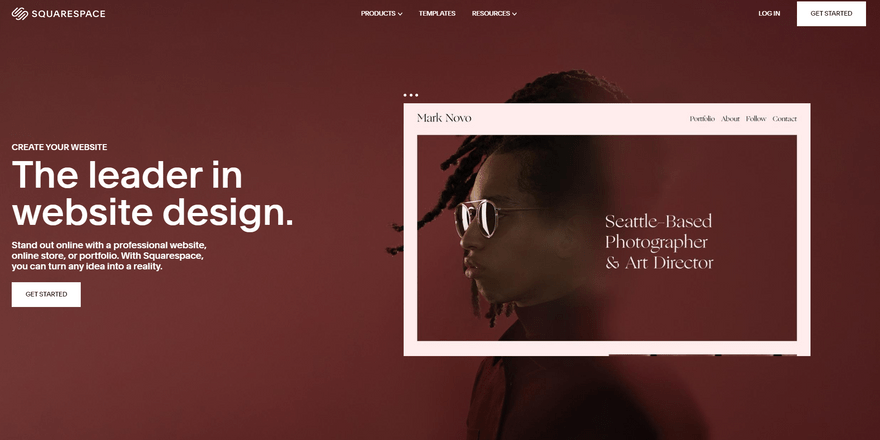 website fonts squarespace white space example