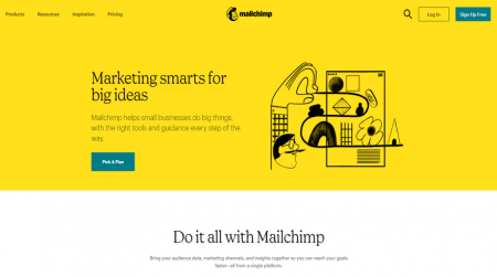 email marketing mailchimp home
