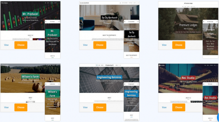 site123 small business templates