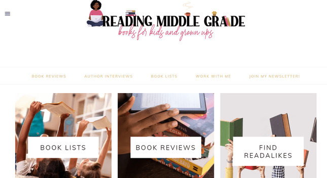 reading middle grade homepage