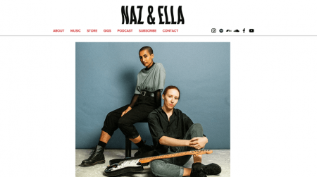 wix website example - naz&ella