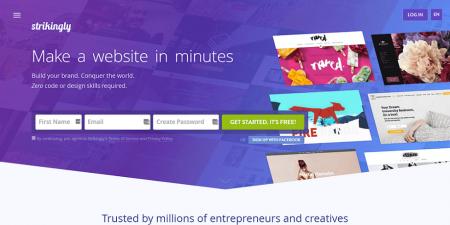 strikingly homepage