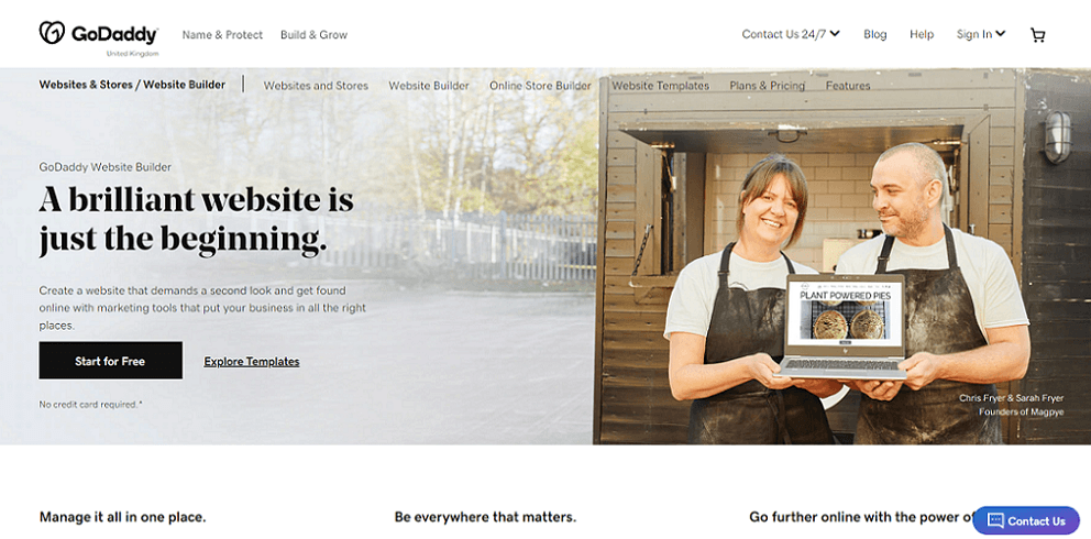 godaddy homepage