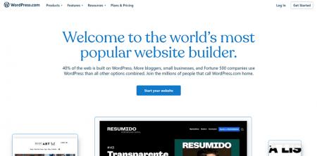 wordpress.com homepage