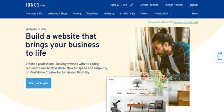 1&1 ionos homepage