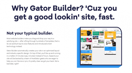 cheapest website builders gator small business