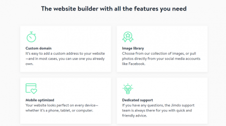 cheapest website builders jimdo website features
