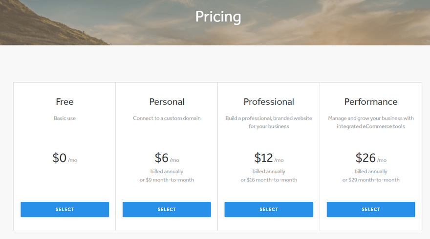 cheapest website builders weebly pricing