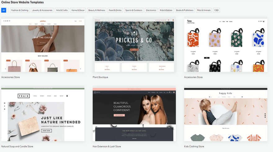 cheapest website builders wix ecommerce templates