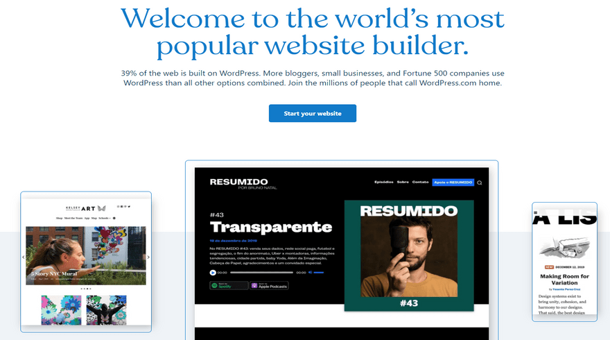 cheapest website builders wordpress.com blogging home