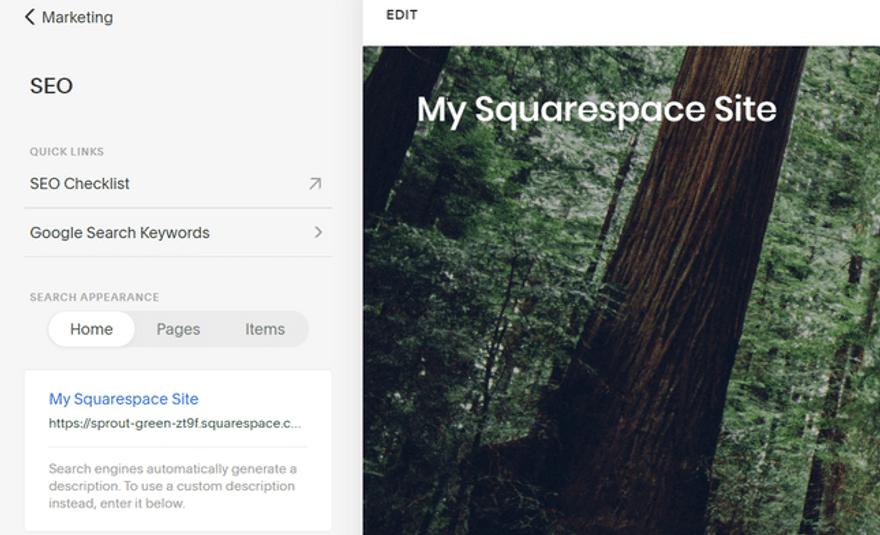 squarespace seo editor