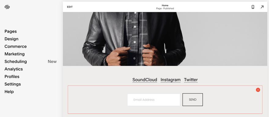 squarespace editor menu