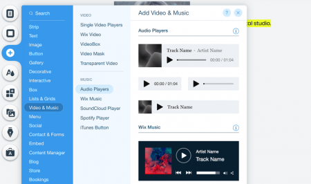 wix audio integrations