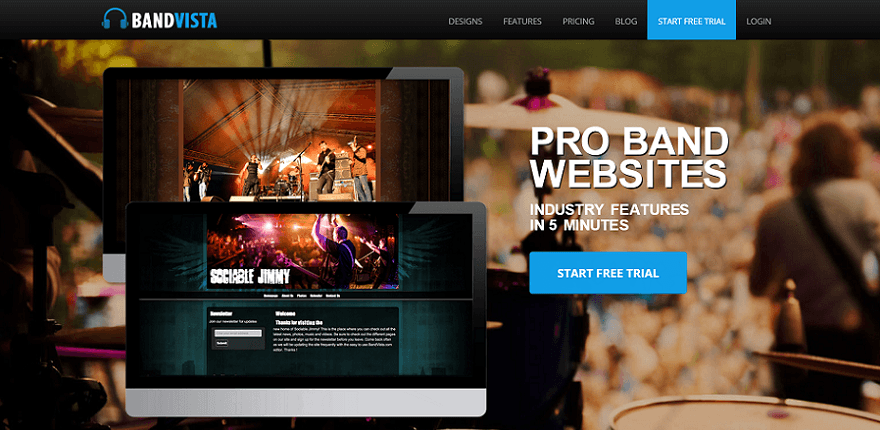 bandvista homepage