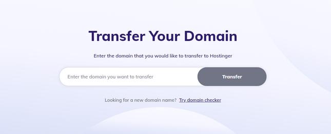 hostinger transfer domain