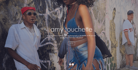 amy touchette squarespace photography website example