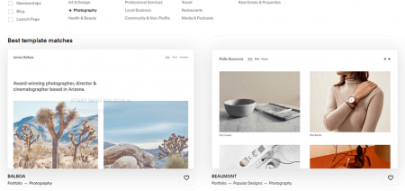 squarepace photography templates