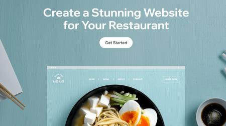 wix restaurant website builder homepage