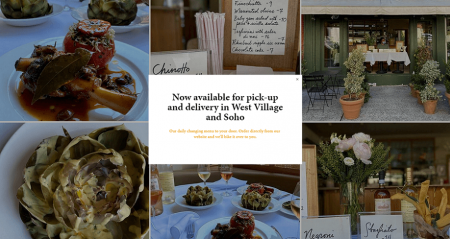 king restaurant - squarespace restaurant website example