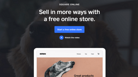 square online restaurant website builder homepage